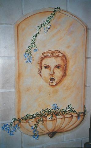 décor peint mur
