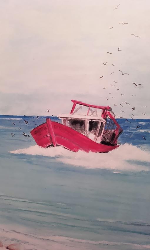 Décor peint bateau