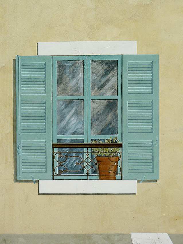 Fenêtre décor trompe