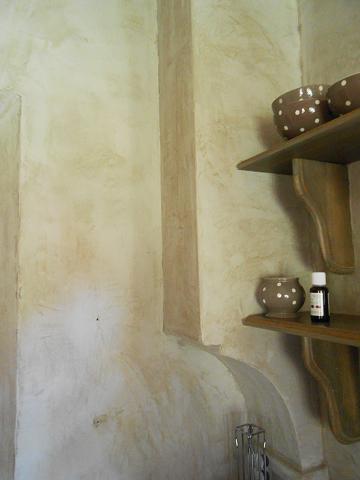 Stuc à la chaux cuisine claire khouri