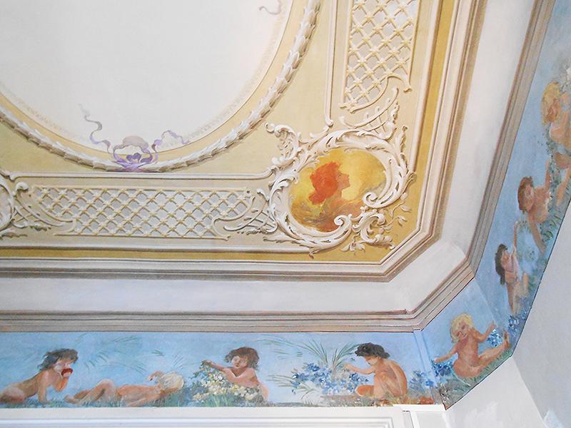 Restauration décor peint plafond artisan