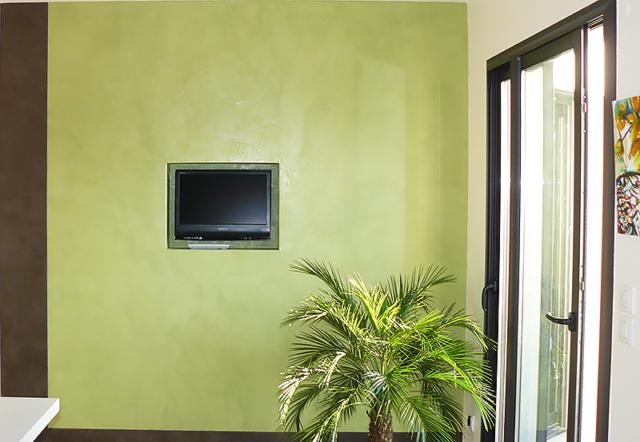 Décoration peinture écologique séjour